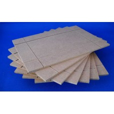 8x24  Frame Back - MDF - Grooved for Clips